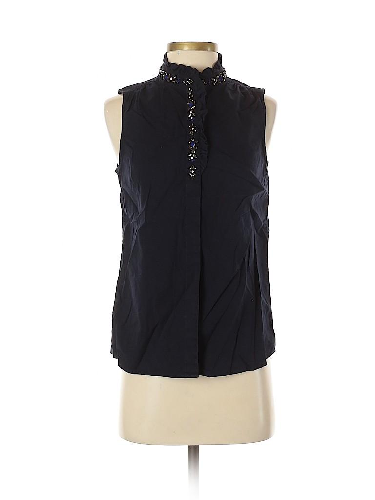 J. Crew Women Sleeveless Button-Down Shirt Size 2