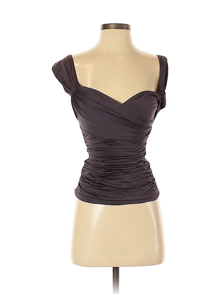 Badgley Mischka Women Sleeveless Blouse Size 4