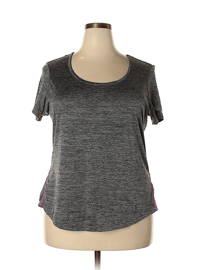 Layer 8 Women Active T-Shirt Size 2X (Plus)
