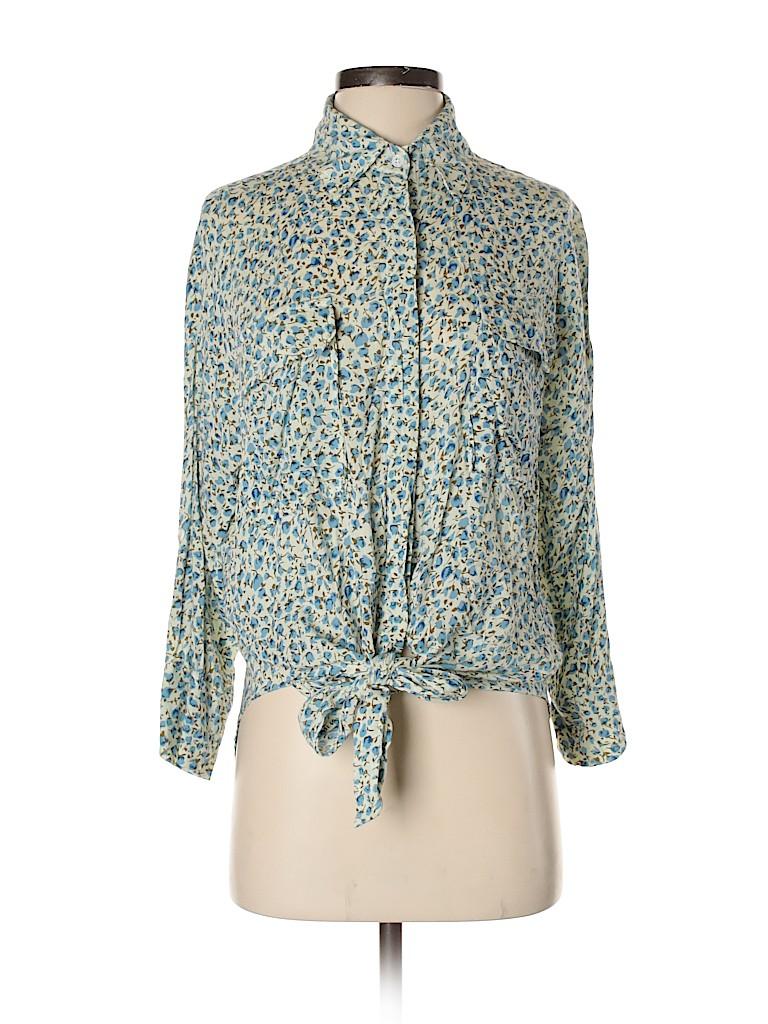 Faithfull the Brand Women Long Sleeve Button-Down Shirt Size 4