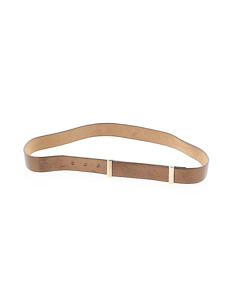 Ann Taylor Women Leather Belt Size L