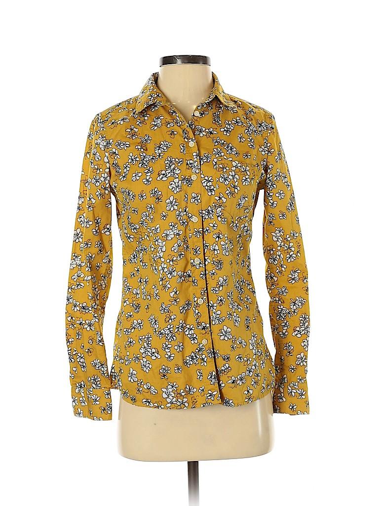 Banana Republic Factory Store Women Long Sleeve Button-Down Shirt Size XS