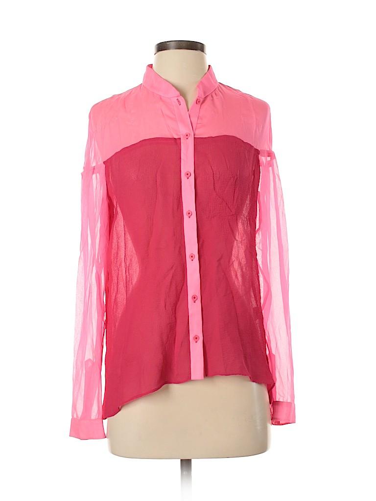 Elie Tahari Women Long Sleeve Silk Top Size S