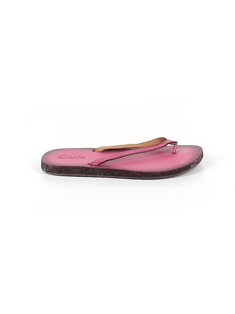 Clarks Women Flip Flops Size 6