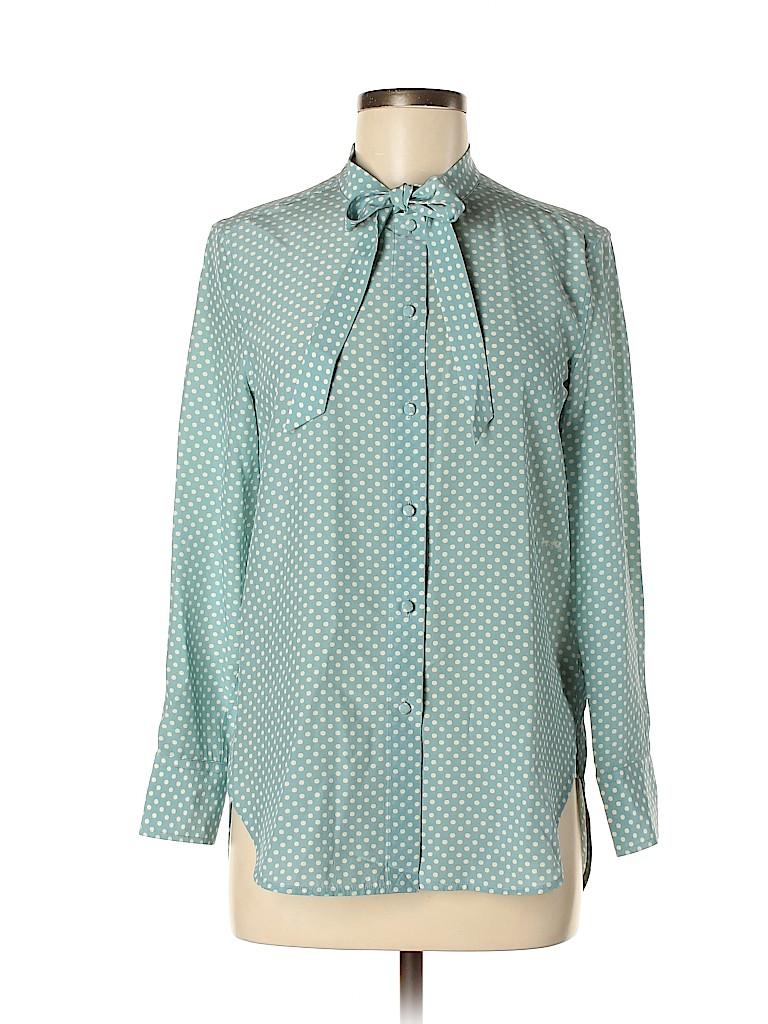 Coach Women Long Sleeve Silk Top Size 2