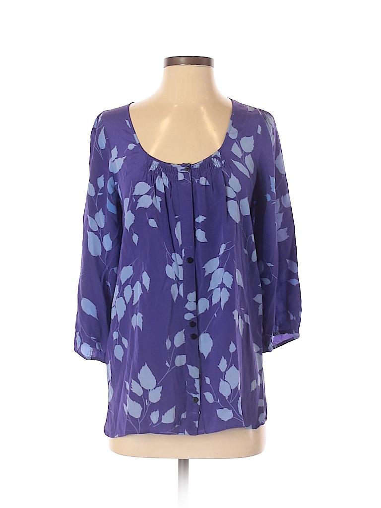Yumi Kim Women 3/4 Sleeve Silk Top Size S
