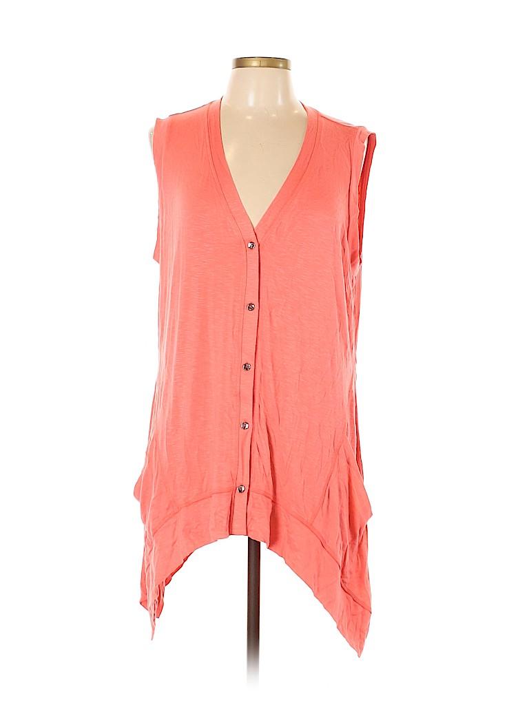 LOGO by Lori Goldstein Women Short Sleeve Top Size L