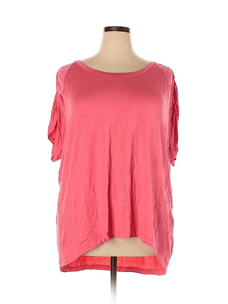 LOGO by Lori Goldstein Women Short Sleeve Top Size 3X (Plus)