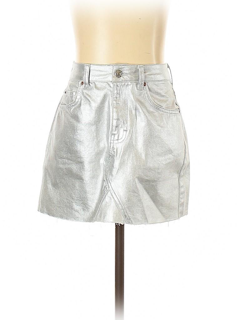 Topshop Women Denim Skirt Size 6