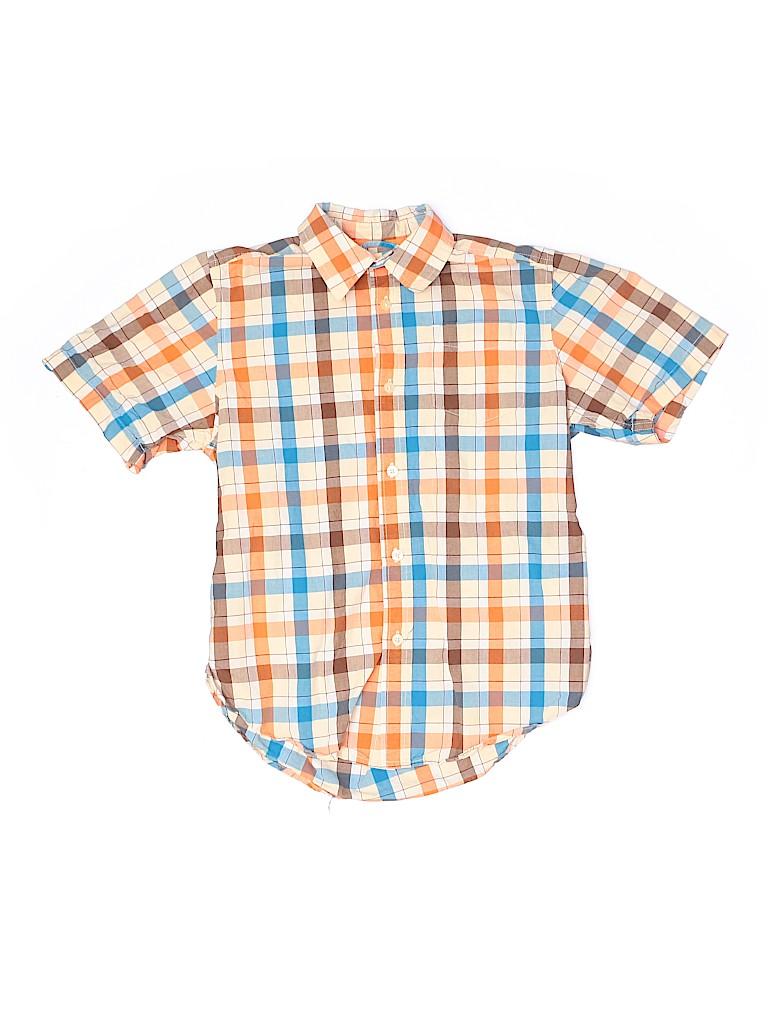 The Children's Place Boys Short Sleeve Button-Down Shirt Size 10 - 12