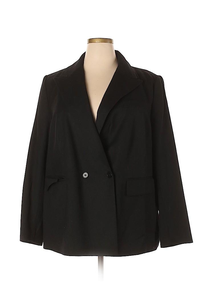 Talbots Women Wool Blazer Size 22 (Plus)