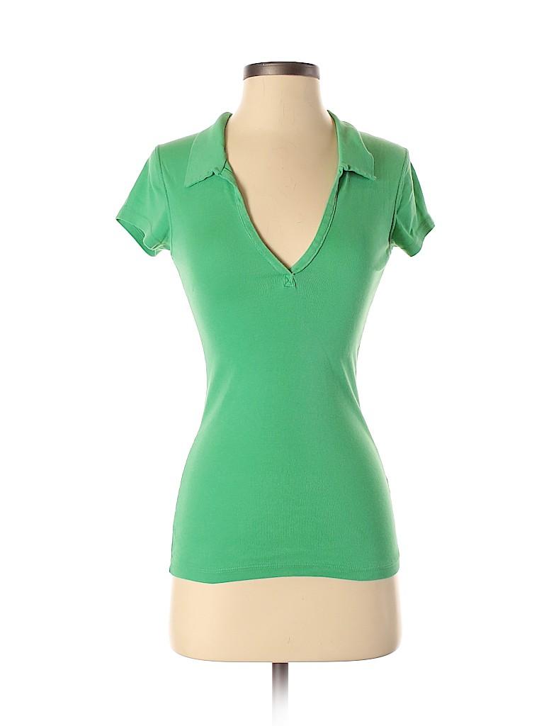 Michael Stars Women Short Sleeve Polo One Size