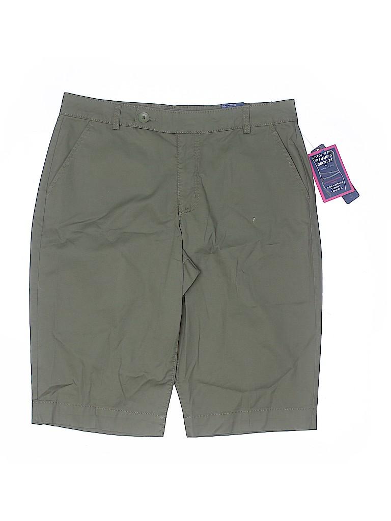 Bandolino Women Khaki Shorts Size 14