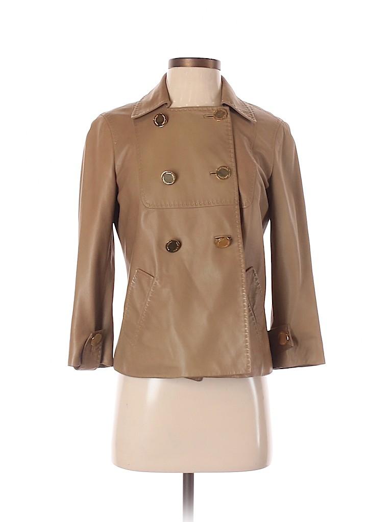 Tory Burch Women Leather Jacket Size 4