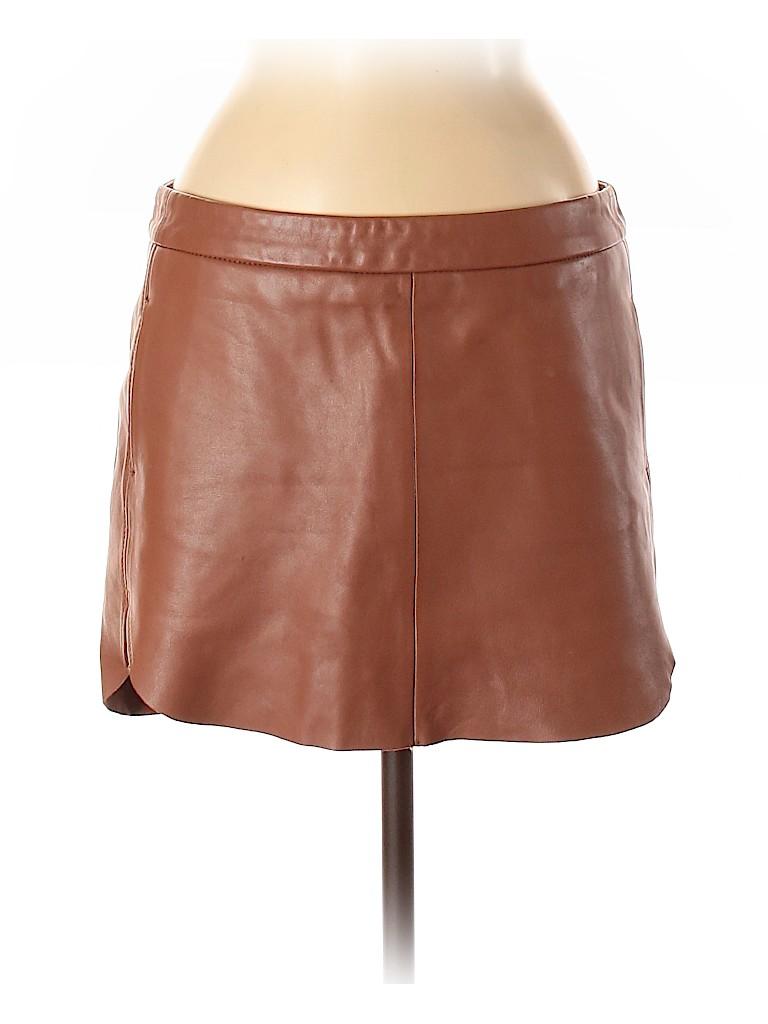 Mason Women Leather Skirt Size 8
