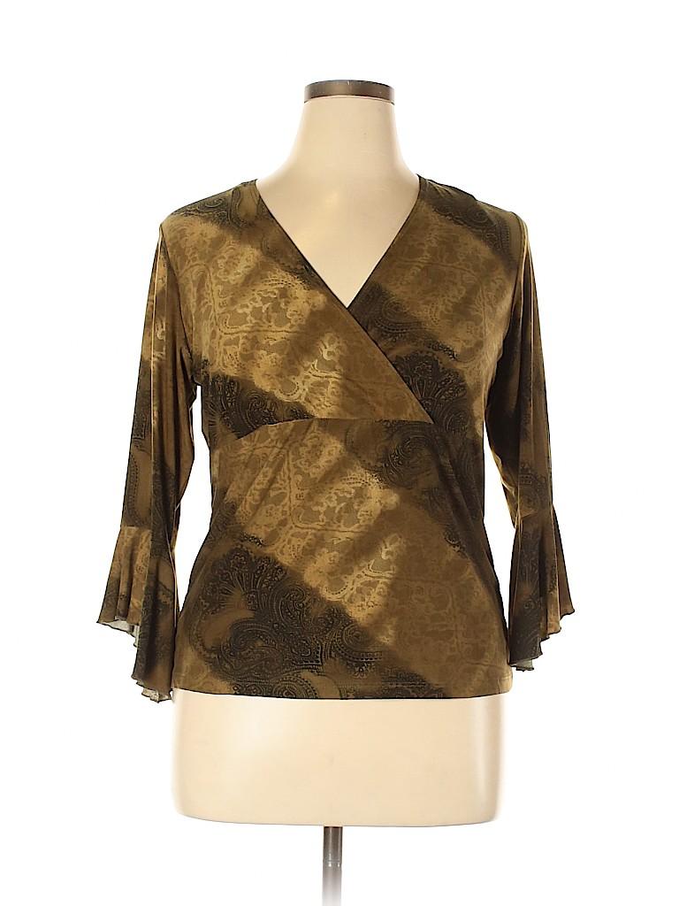 Fashion Bug Women 3/4 Sleeve Top Size 14 - 16