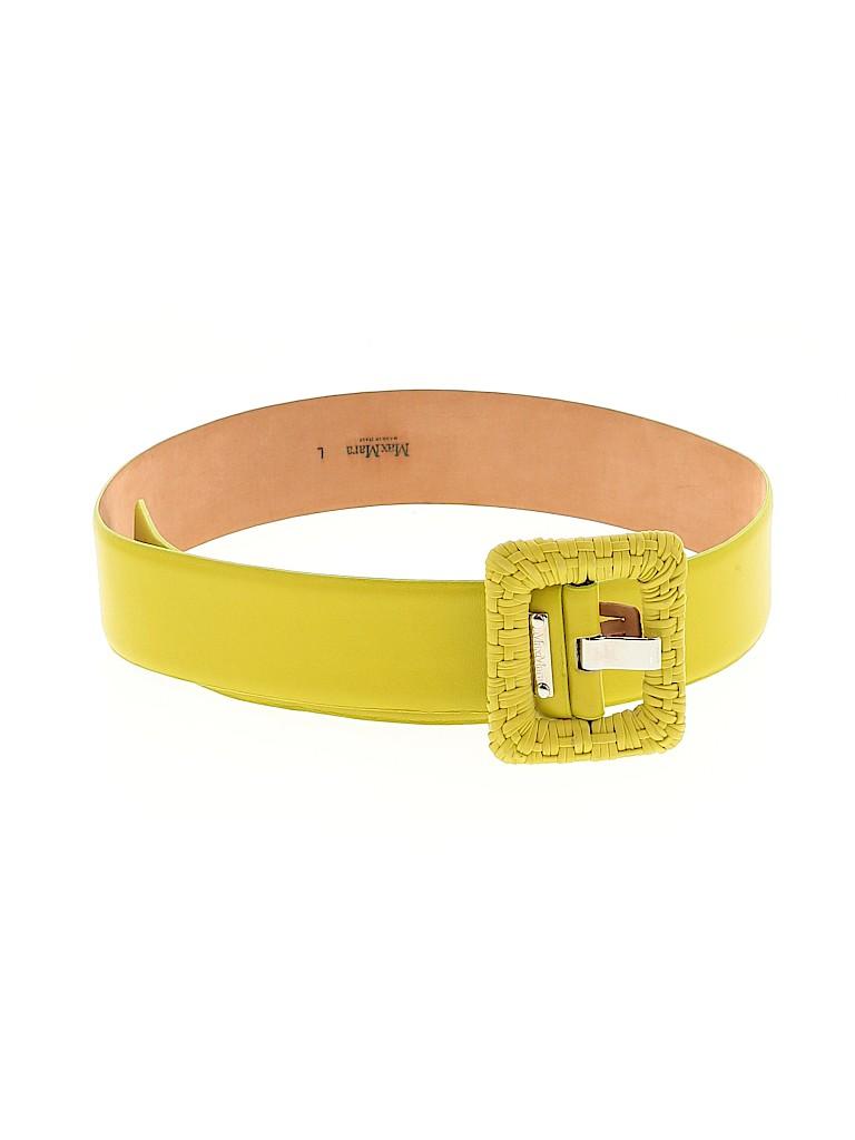 Max Mara Women Leather Belt Size L