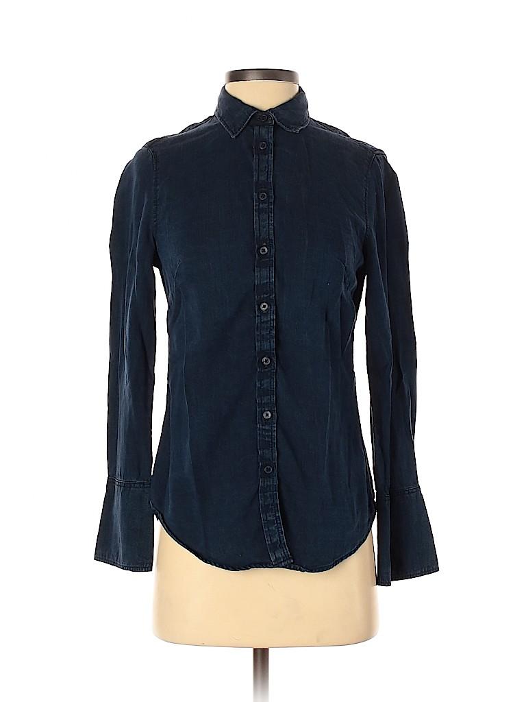Banana Republic Factory Store Women Long Sleeve Button-Down Shirt Size 0
