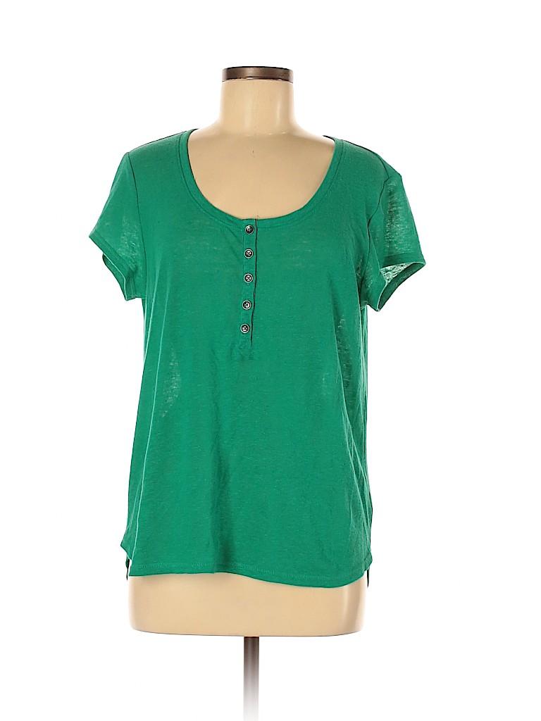 Universal Thread Women Short Sleeve Henley Size M