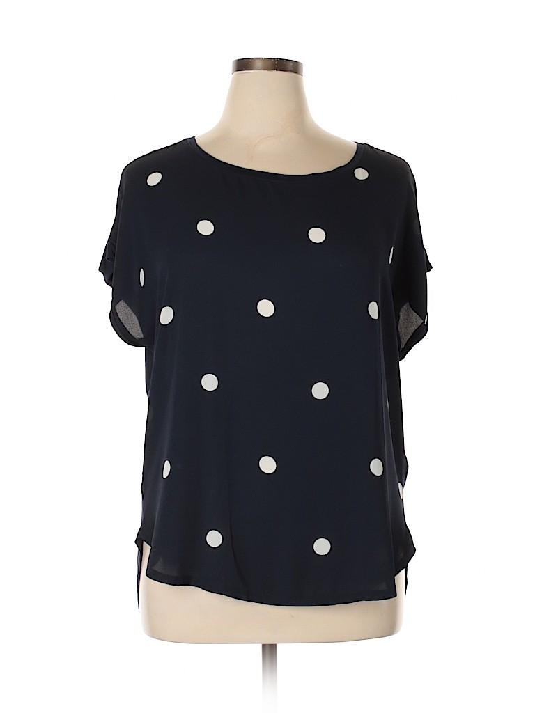 Ann Taylor LOFT Women Short Sleeve Blouse Size XL