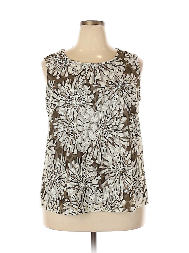 DressBarn Women Sleeveless Blouse Size 1X (Plus)