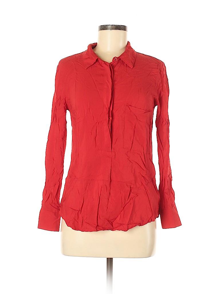 Dalia Collection Women Long Sleeve Button-Down Shirt Size M