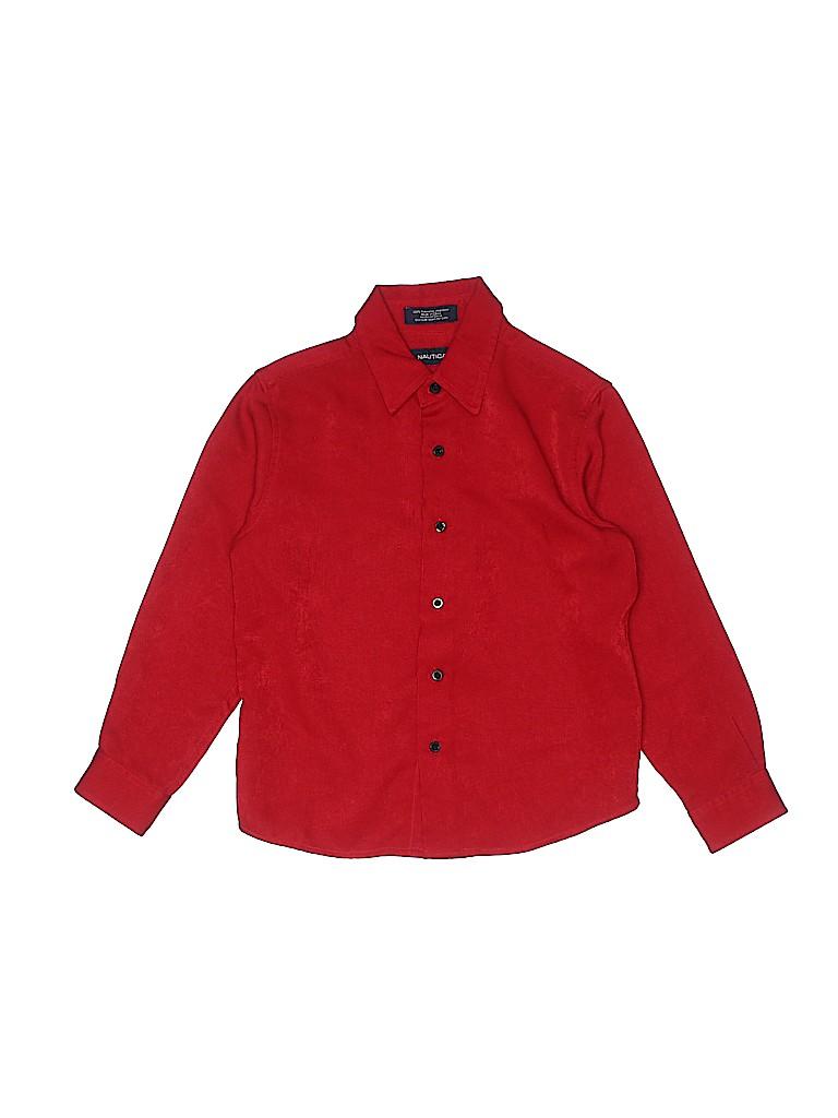 Nautica Girls Long Sleeve Button-Down Shirt Size 7X