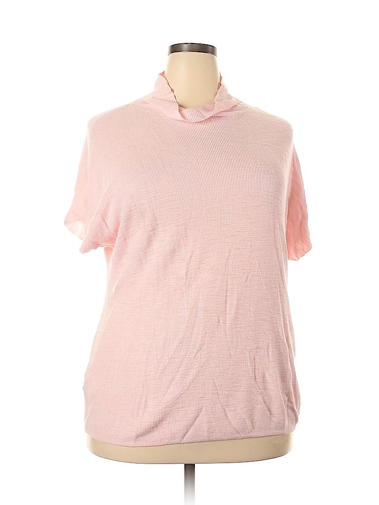 Lou & Grey Women Short Sleeve Top Size XL