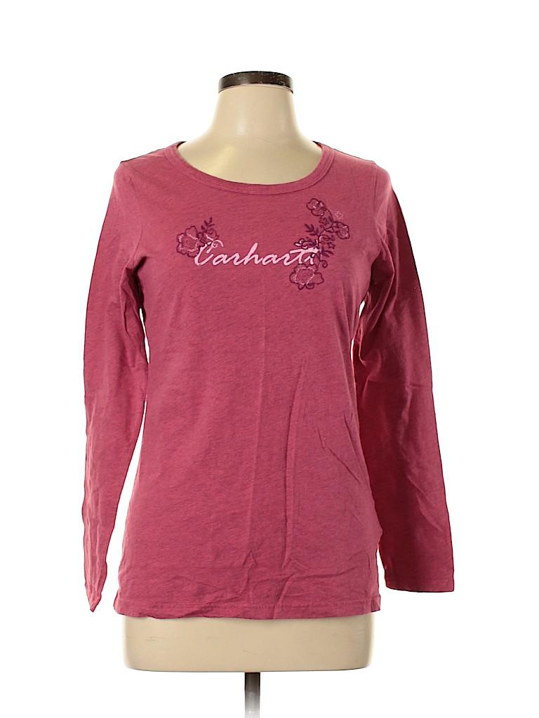 Carhartt Women Long Sleeve T-Shirt Size 8 - 10