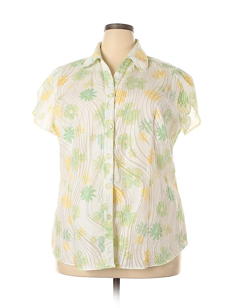 DressBarn Women Short Sleeve Button-Down Shirt Size 18 - 20 (Plus)