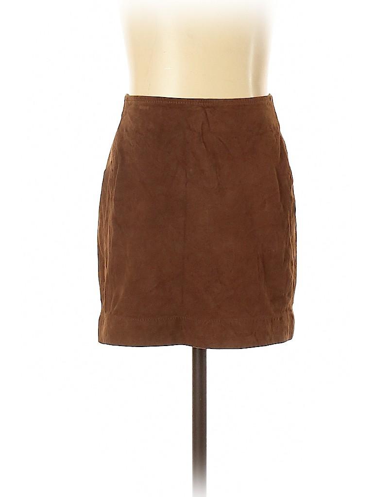 BCBGMAXAZRIA Women Leather Skirt Size XS
