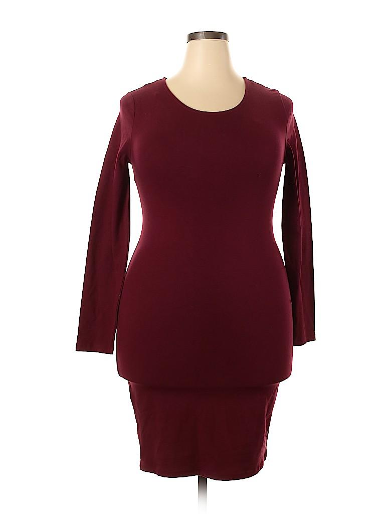 Forever 21 Plus Women Casual Dress Size 1X (Plus)