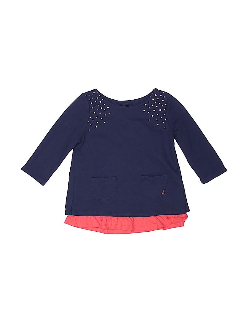 Nautica Girls 3/4 Sleeve Top Size 7
