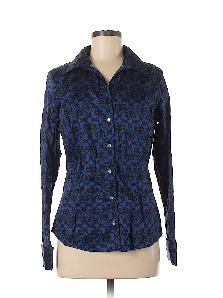Tommy Hilfiger Women Long Sleeve Button-Down Shirt Size M