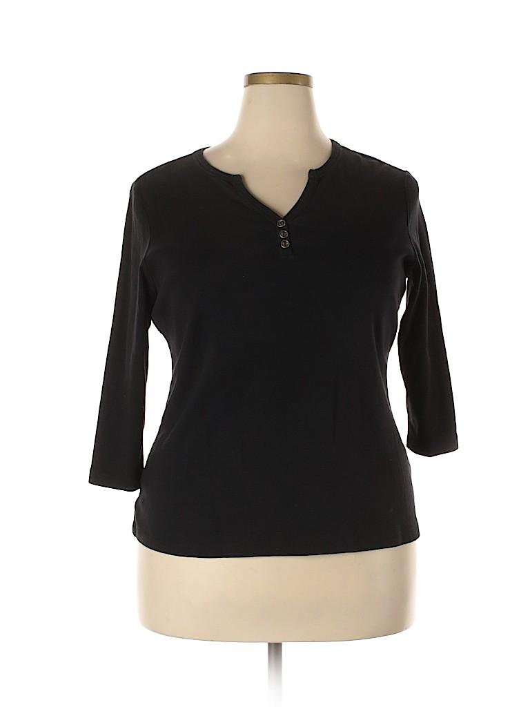 DressBarn Women 3/4 Sleeve Henley Size 18 - 20 (Plus)