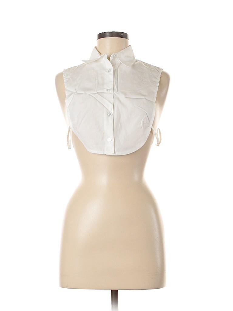 Assorted Brands Women Sleeveless Button-Down Shirt Size Med - Lg