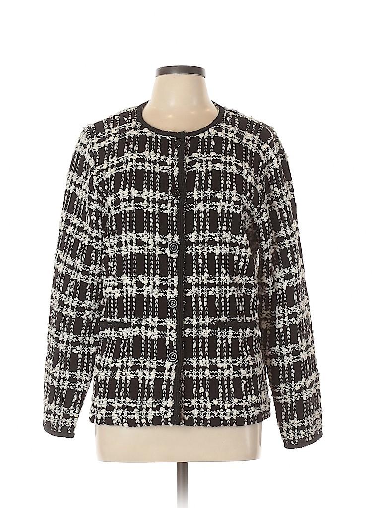 JM Collection Women Cardigan Size L