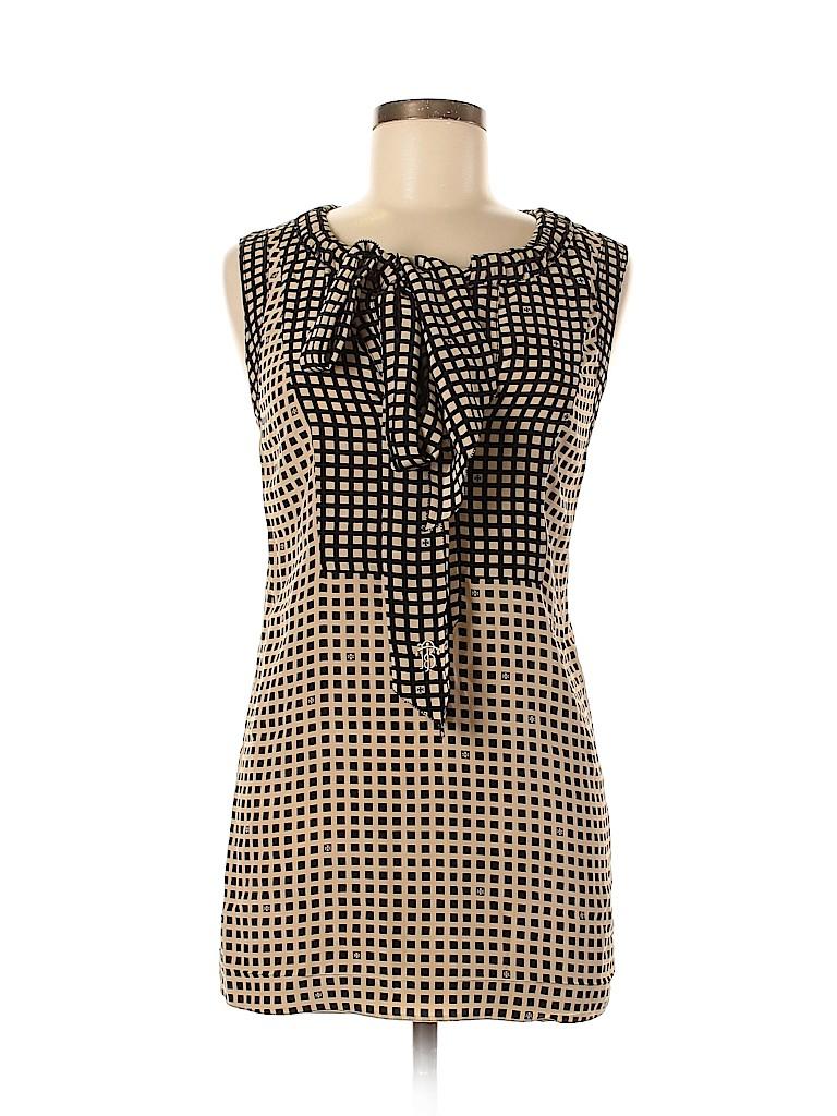Tory Burch Women Short Sleeve Silk Top Size 12