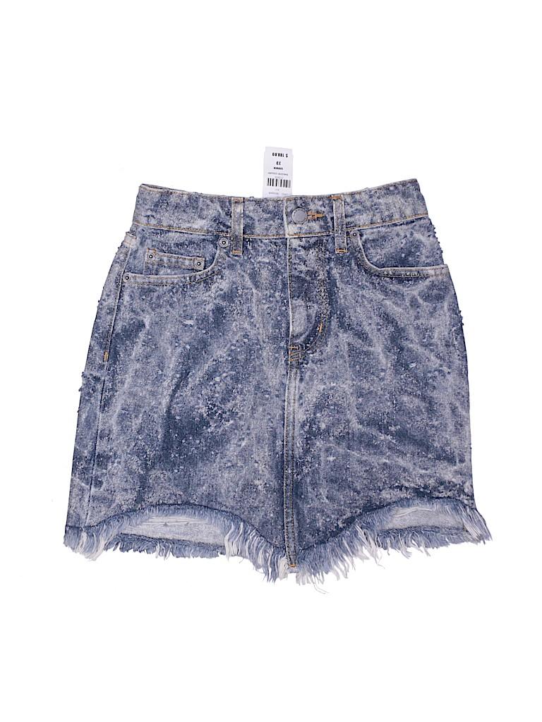 Carmar Women Denim Skirt 23 Waist
