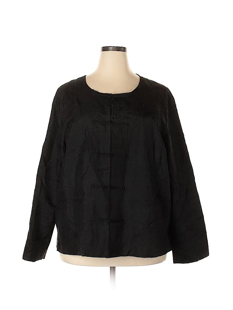 Eileen Fisher Women Silk Cardigan Size 3X (Plus)