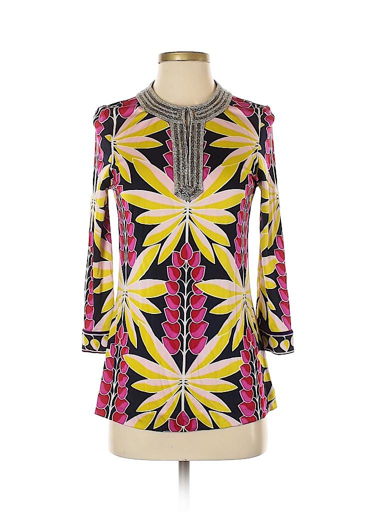Tory Burch Women 3/4 Sleeve Silk Top Size XS