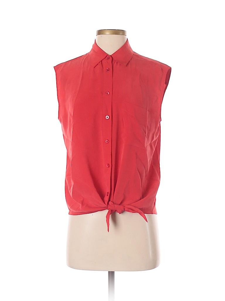 Equipment Women Sleeveless Silk Top Size S