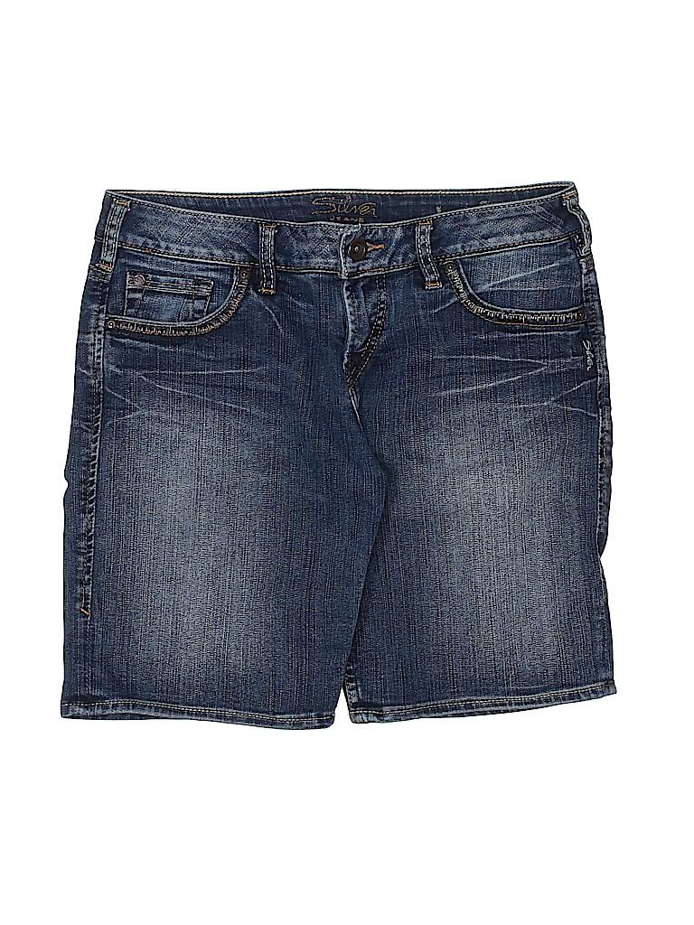 Silver Jeans Co. Women Denim Shorts 28 Waist