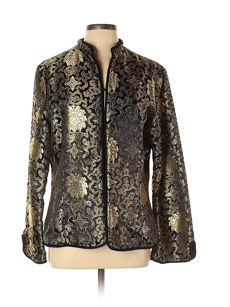 Melanie Apple Women Silk Blazer Size XL