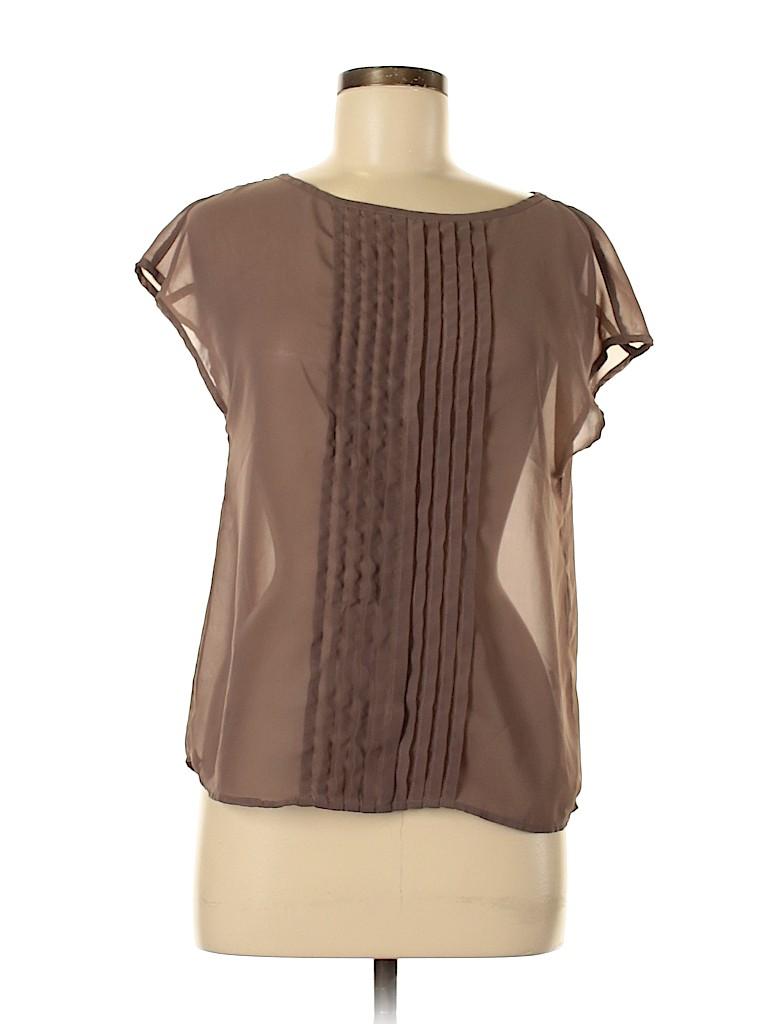 14th & Union Women Short Sleeve Blouse Size M