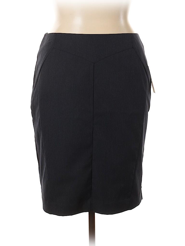 Worthington Plus Women Casual Skirt Size 16 (Plus)