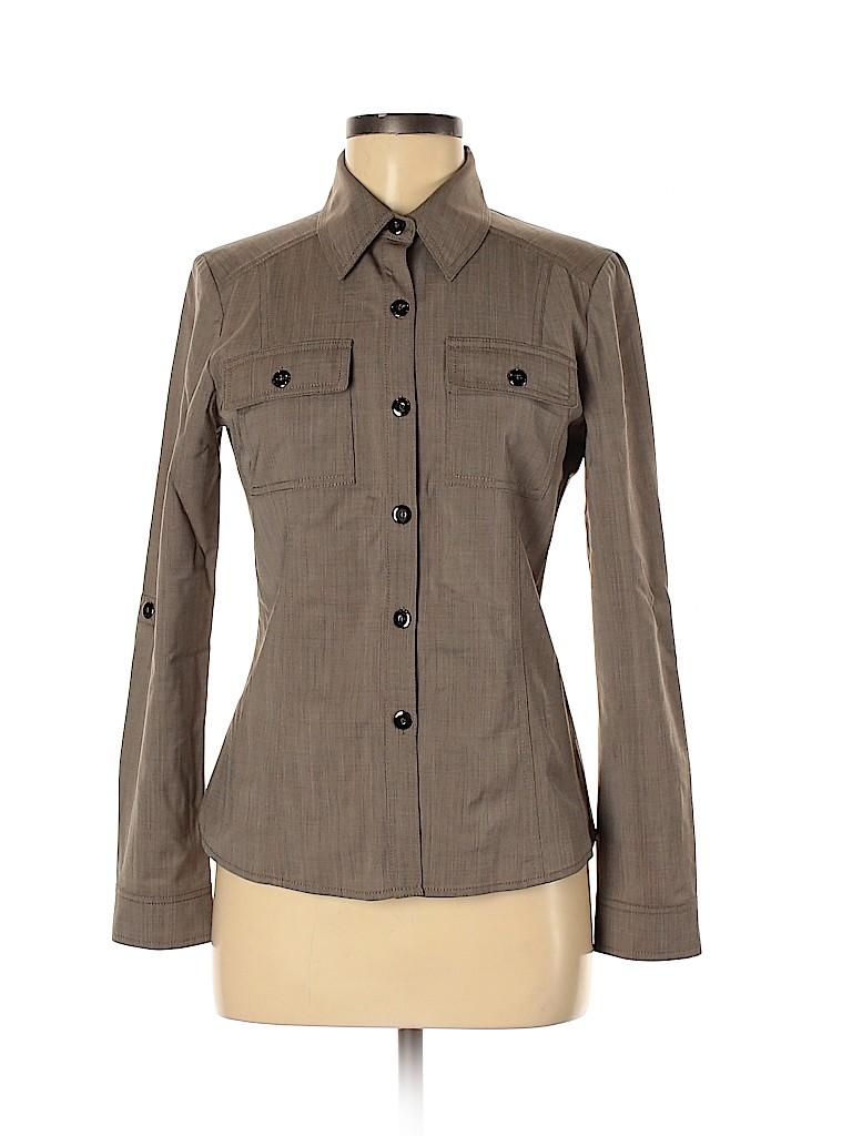 St. John Women Long Sleeve Button-Down Shirt Size 4