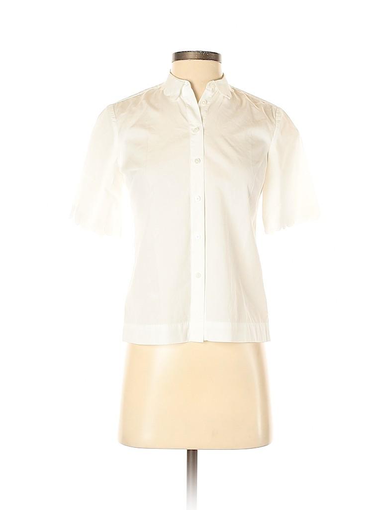 Banana Republic Women Short Sleeve Button-Down Shirt Size XXS