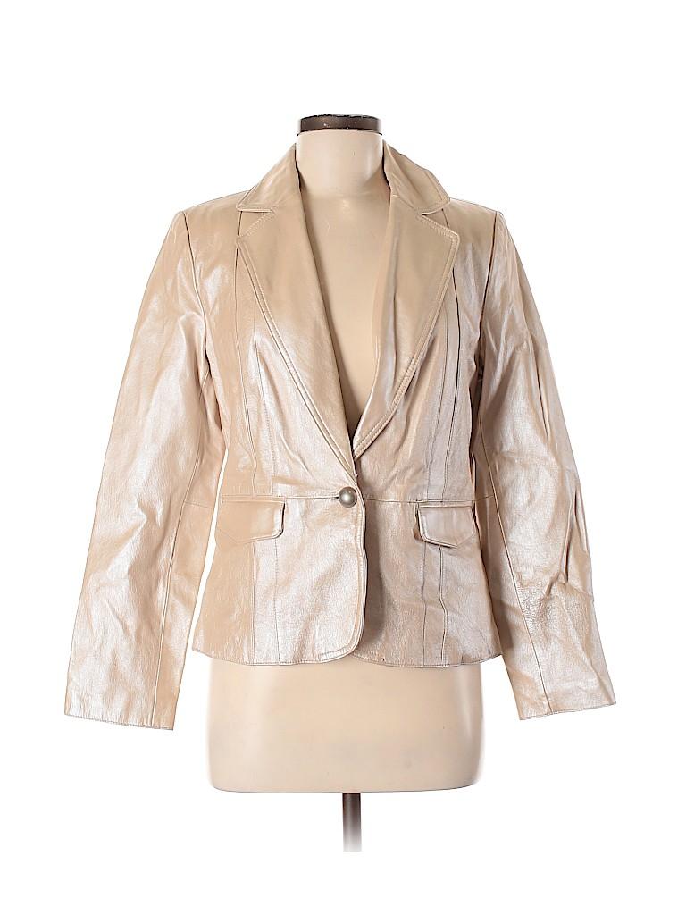 Worthington Women Leather Jacket Size M