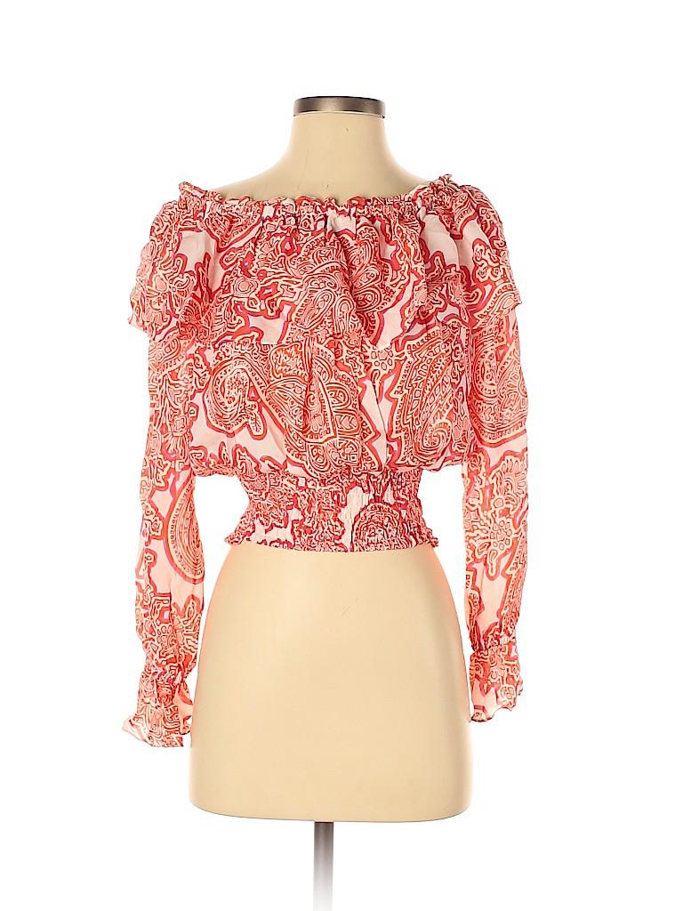 MICHAEL Michael Kors Women Long Sleeve Silk Top Size XS